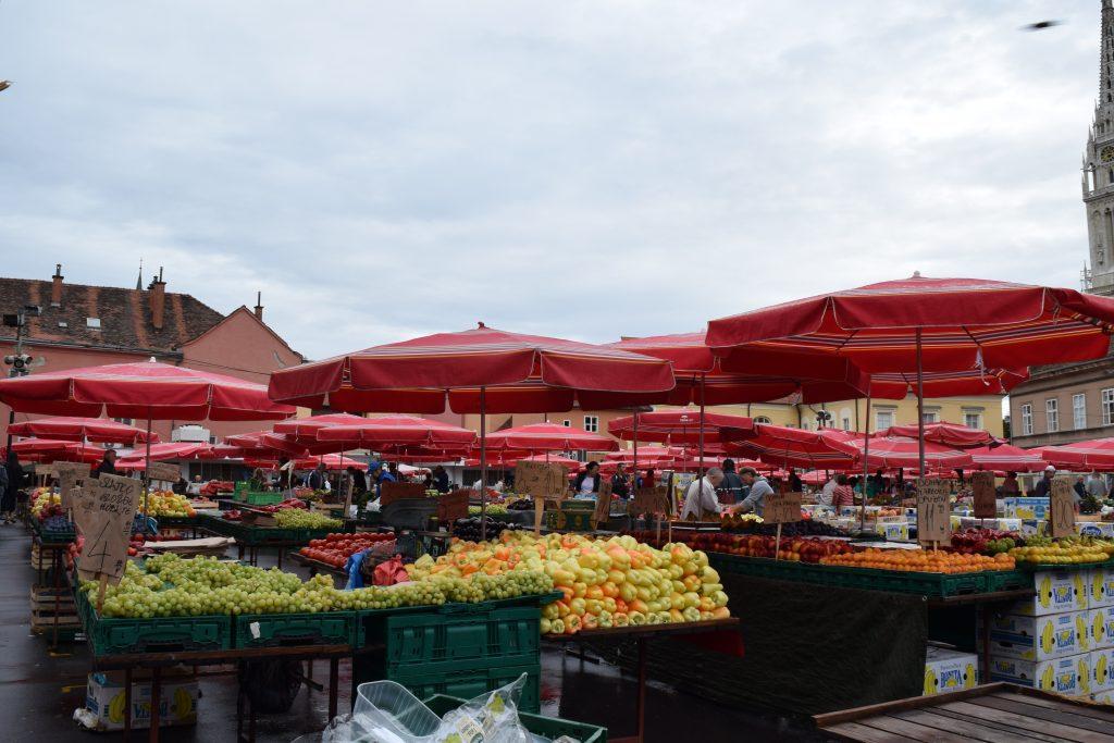 dolac market, zagreb, kroatië