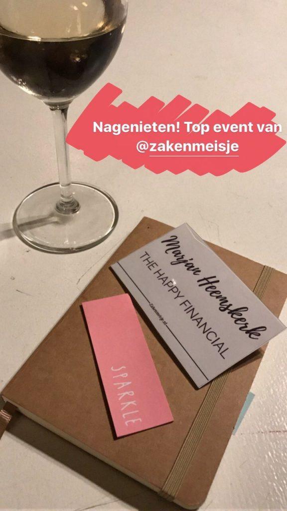 Nagenieten van het #zakenvriendinnen event van @zakenmeisje