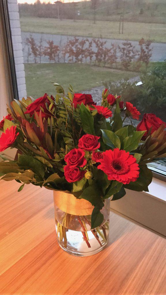 Bos rozen, cadeau, gift, vriendin