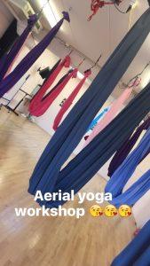 yoga, aerial yoga, workout, sporten