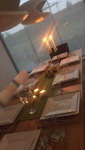 eten, etentje, gezellig, oud huisgenoten, studenten