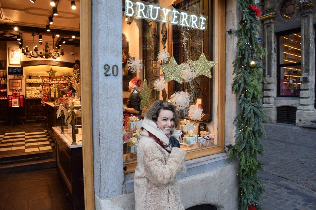 Een van de leuke winkels bij de Grand Place