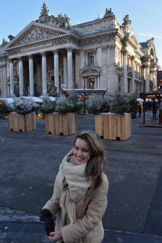 Brussel in december: ben ongeveer drie gezellige kerstmarkten tegengekomen, met wel gluhwein deze keer!