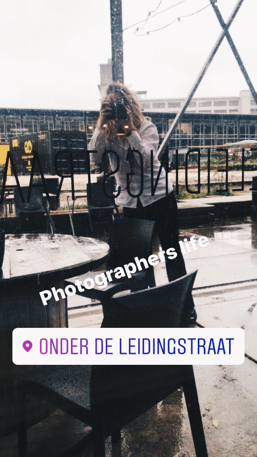 Het leven van een fotograaf, zo vol glamour,