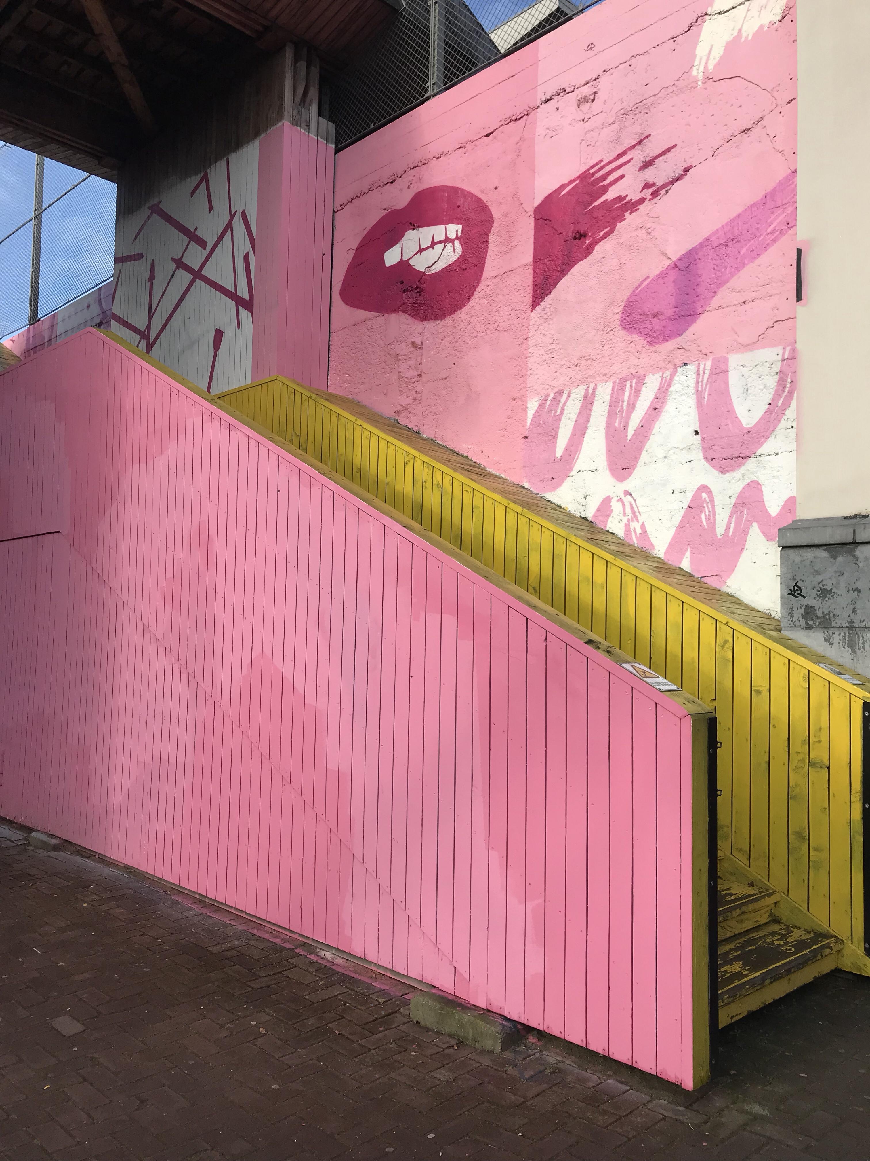 zoveel leuke foto's gemaakt bij de pink wall
