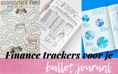 Finance trackers in je bullet journal