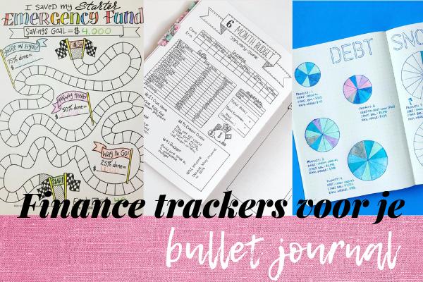 Finance trackers in je bullet journal