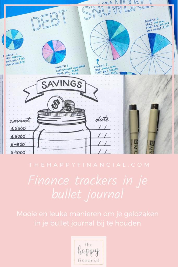 finance trackers bullet journal